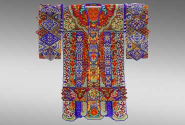 Sharmini Wirasekara Talavera Robe Beadwork-art-robe